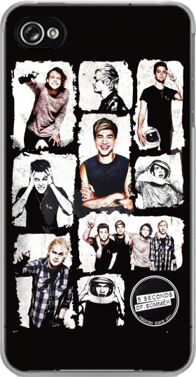 Futerał Back Case 5 seconds of summer dla Iphone 4