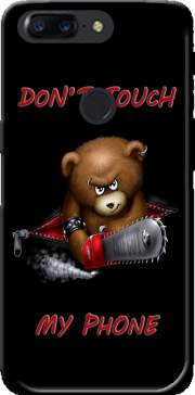 Don't touch my phone Futerał Back Case dla OnePlus 5T