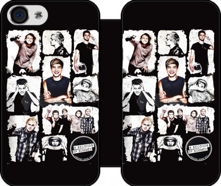 Etui z portfelem 5 seconds of summer dla Iphone 4