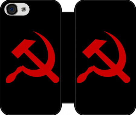 Etui z portfelem Communist sickle and hammer dla Iphone 4
